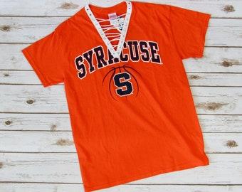 NEW Syracuse University Lace-UP Tee (M)