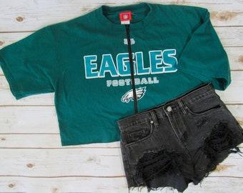 cc9aa011 Eagles crop top | Etsy