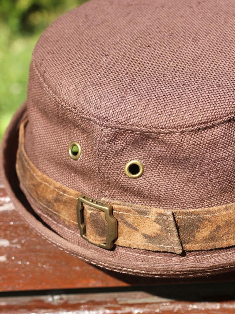 Summer linen pork pie bucket hat PPH-23