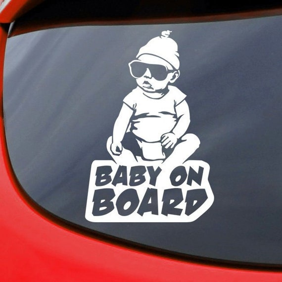 BABY ON BOARD Vinyl Decal Car Window Bumper Sticker Child Safety Sign