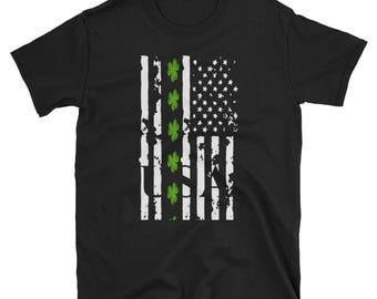 St. Patrick's Day Irish American Flag T-Shirt