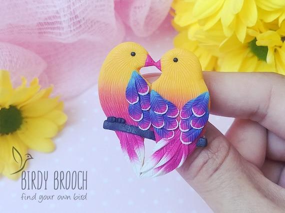 Sweet Handmade Bud Vase With Birds