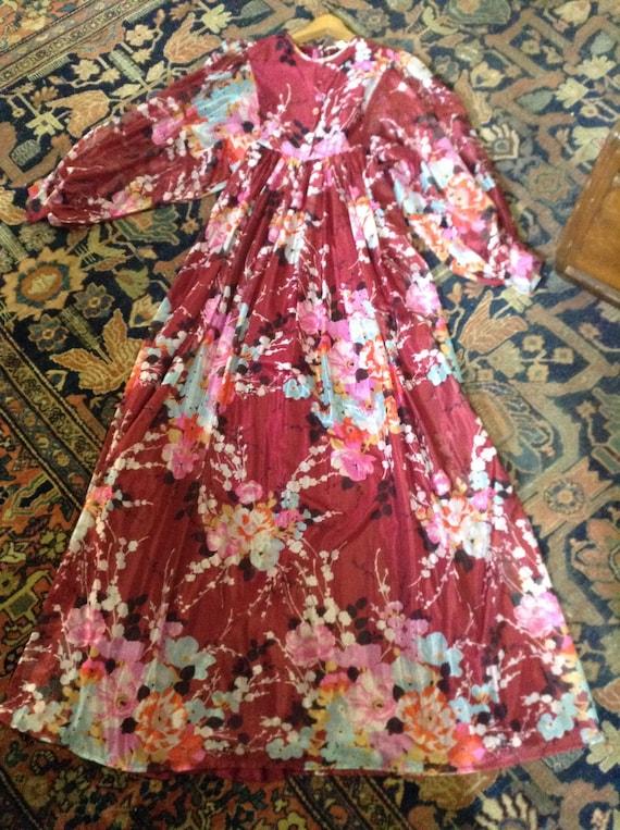 Gypsy floral maxi dress