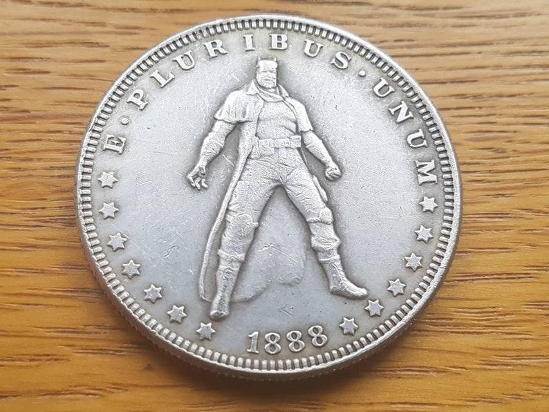 Superhero Morgan Liberty Silver Dollar 1 One Fantasy Hobo Coin 1888