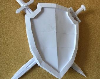 Sword Shield DIY papercraft model