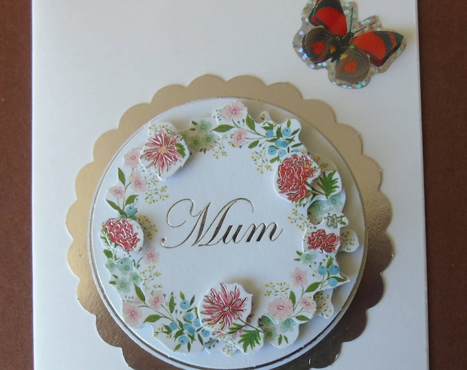"Greeting card ""Mum"" #3-D #Mothersday #handmade #exceptional"
