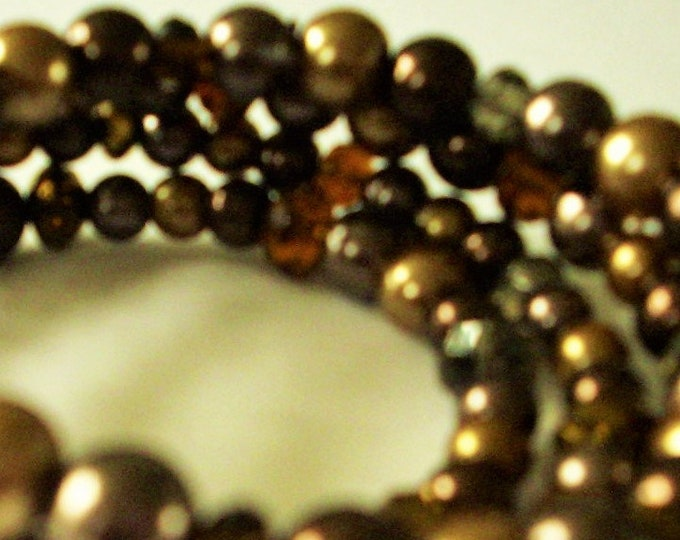 spiral bracelet #brown #handmade #glass beads #gift #women