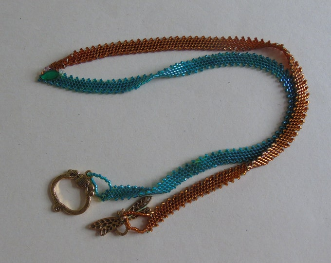 Chain # green-copper with #Knebelverschluss 60 cm