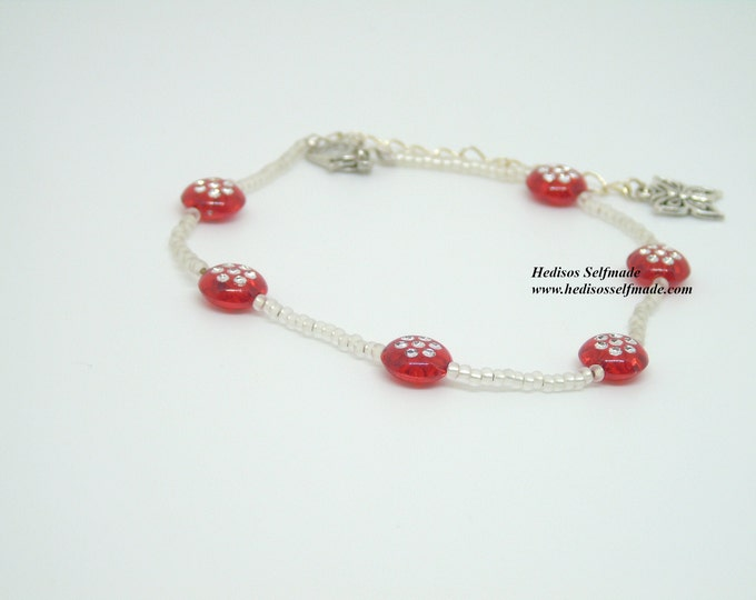 """Anklet """"Butterfly"""" # 25 cm"""