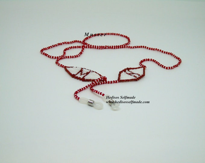 Glasses chain with monogram 70 cm