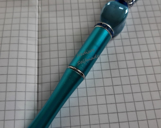 Ballpoint pen # turquoise with # exchangeable #Mine