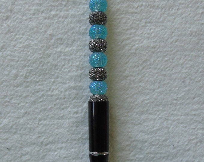Perlenkuli #refill interchangeable #black-blue #handmade # ball pen