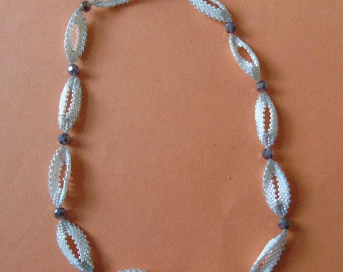 Chain 45 cm white-silver