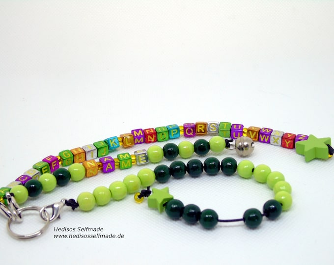 Letter chain #Rechenkett zum #Schulanfang # dark green # light green personalized