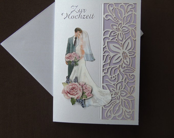 3-D-greeting card #wedding