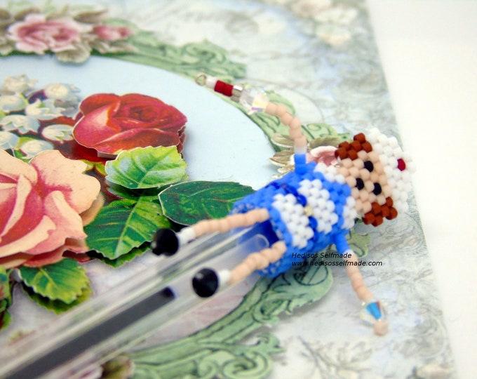 Pen Topper # Pen attachment #Nurse # made of pearls 3 cm
