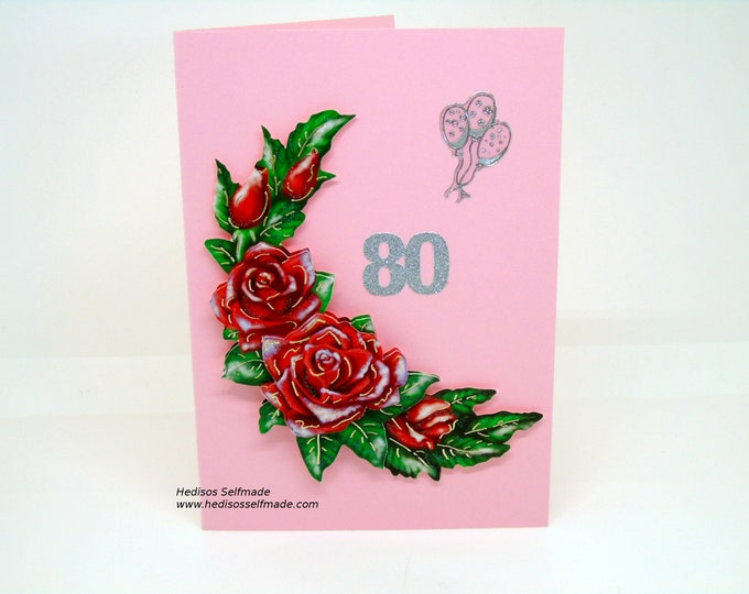 Birthday card for 80th birthday