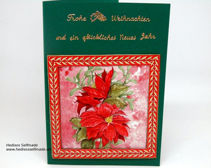 3-D Christmas card with #Christmas star