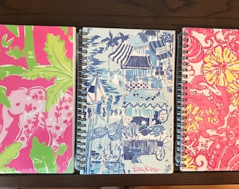 Lilly Pulitzer Inspired Notebooks