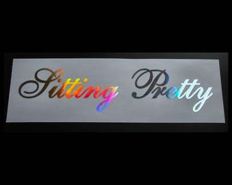 Made in Japan Barcode Silver Hologram Neo Chrome Stickers Decals JDM Rising Sun
