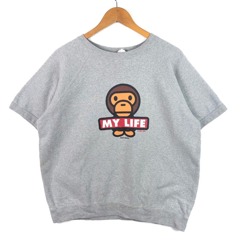 94d5734c My Life is My Life Baby Milo By Bape Short Sleeve Sweatshirt | Etsy