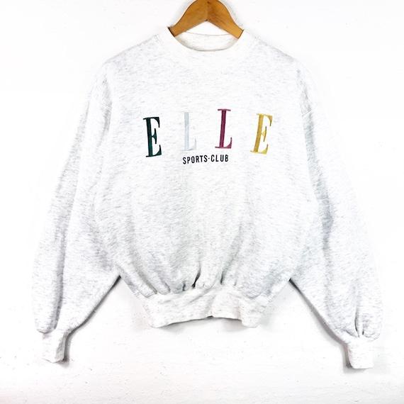 f09ffa41490b Elle Sports Club Sweatshirt Big Logo spell out Embroidery