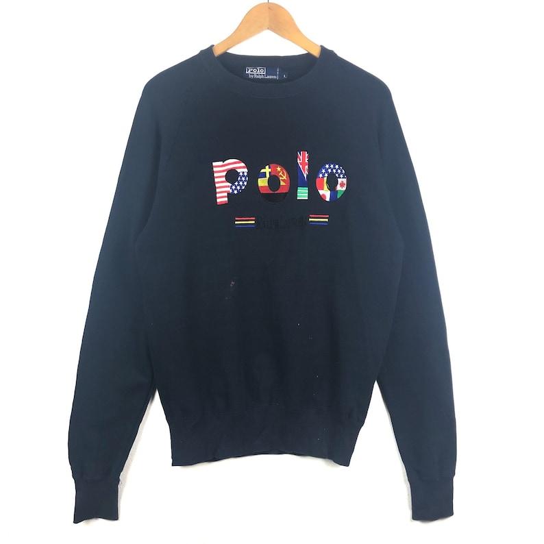 431b7c57d2 Polo Ralph Lauren Sweatshirt Big Spell Out Flag Logo usa polo bear Polo  P-wing Polo Stadium Rl-92s