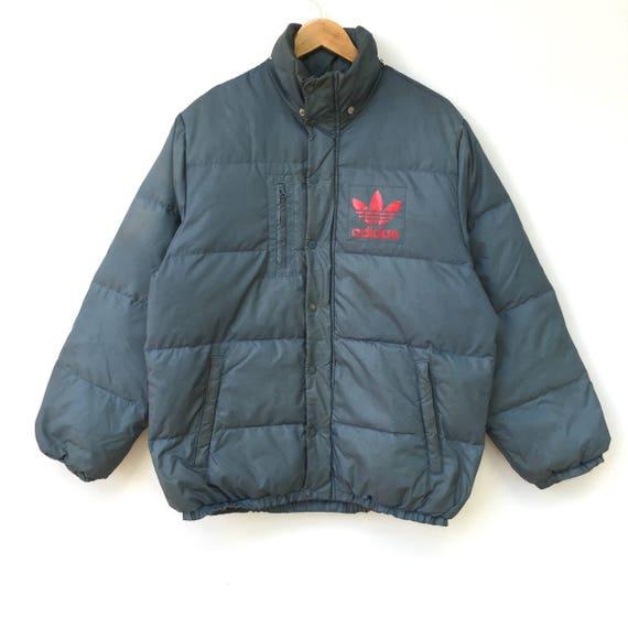 Vintage Adidas Trefoil Puffer Down Jacket Big Logo