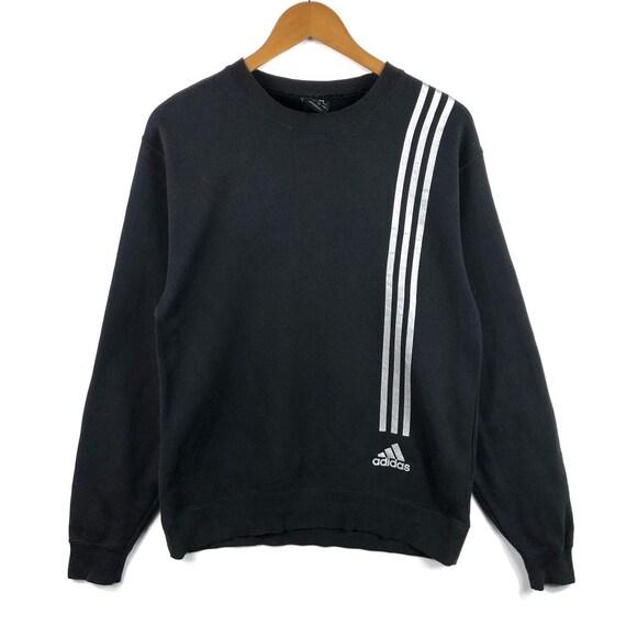 Adidas Sweatshirt Big Logo Seite Band buchstabieren Stickerei Sweat Medium Größe Pullover Pullover Jacke Pullover Shirt Vintage 90er Jahre