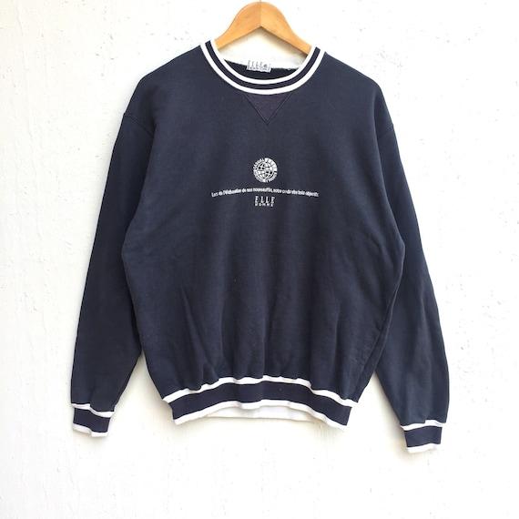 3b50f74651fe Elle paris Sweatshirt Big Logo spell out Embroidery Sweat