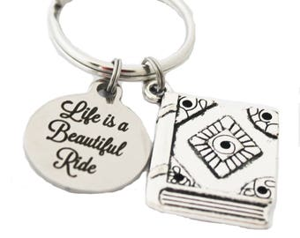 Book Lover Keychain - Book Lover Gift - Book Club Gifts - Reader Gift - Graduation Gift - Librarian Gift - Teacher Gift - Inspirational Gift