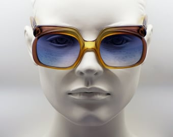 191587e13d8a CHRISTIAN DIOR amber brown square oversized vintage 70s sunglasses frames