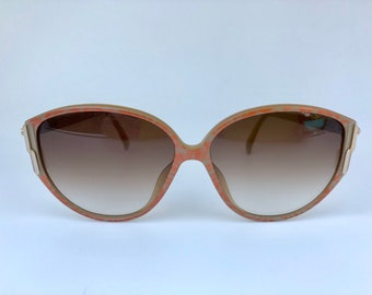b1ebc31ed6939 CHRISTIAN DIOR Light brown   pink timeless vintage 80s frames sunglasses  with rhinestones on sides