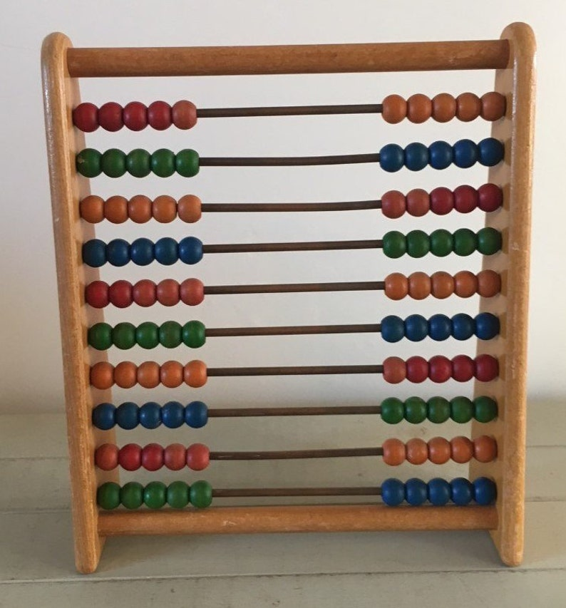 learning vintage wooden 1960s Children/'s abacus counter abacus treen toys toy vintage childs children/'s wooden