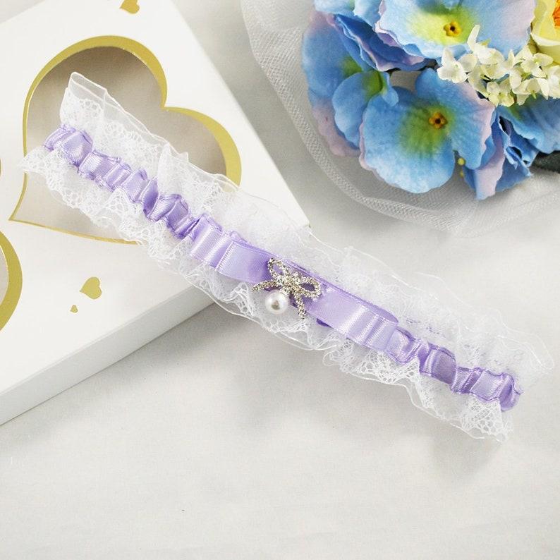 competitive price 3b5f3 ceb0e Braut Strumpfband Gürtel Lavendel, Dessous für die Braut, Bein Hochzeit  Stretch Strumpfband lila, lila werfen Strumpfband