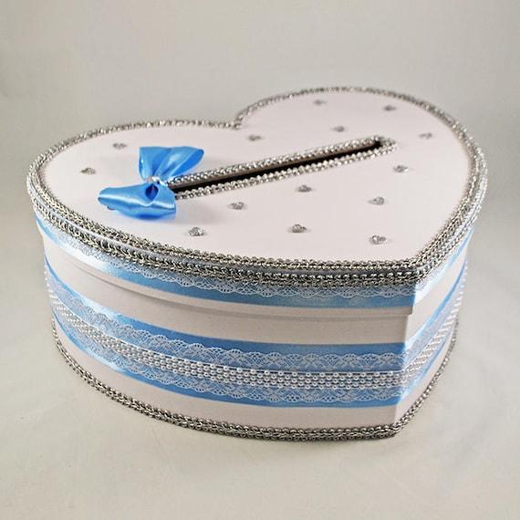 Blue card box for wedding Envelope box wedding Post box for | Etsy