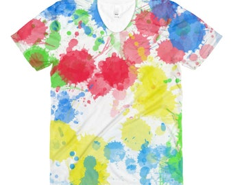 All Over Print Shirt,Paint Splatter,tshirt,Tee,Graphic Tee,Womens,Printed,Ladies,Top,Pattern,Gift,Mothers Day,Clothing,Fashion,Birthday
