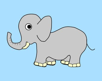 Baby elephant Poster 18x24, nursery decor, Nursery elephant decor, Safari animal prints, Baby elephant baby shower, Nursery animal art