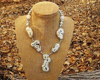 Throat Chakra Sparkling Blue Quartz Natural Gemstone Druzy Necklace gold pyrite drusy crystal boutique gypsy boho hippie jewelry festival
