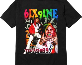 44e97cab3 6ix9ine tekashi t shirt 90's retro style tee