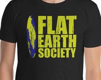 98d5ec23 Flat Earth Map - Flat Earth Society - Earth Day Tshirt - Flat Earth Pendant  - Flat Earth Necklace - Secret Society - Flat Earther - Earth Is