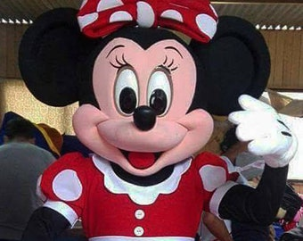 Minnie Mouse Mascot Costume Adult Halloween BIRTHDAY Disney Girl Party Red USA