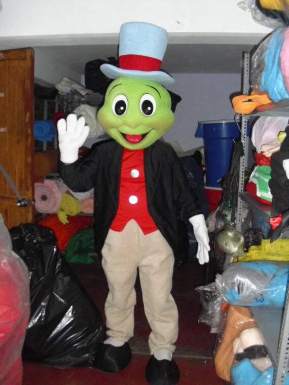mascotte costume adulto  Il Grillo parlante mascotte Costume adulto Jiminy Cricket | Etsy