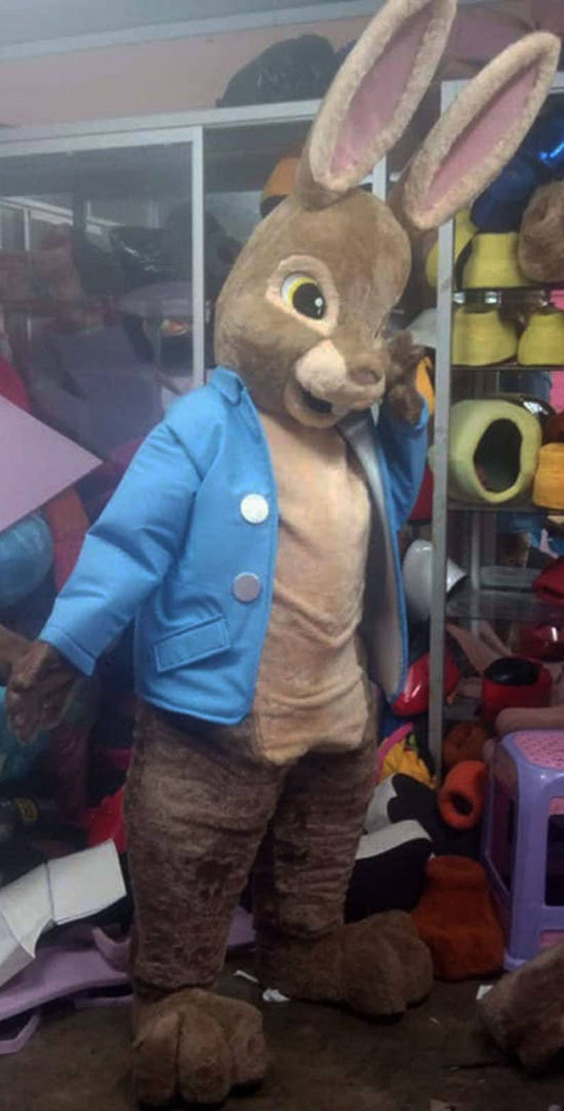 698a78b5f0af3 Peter Rabbit Mascot Costume Adult Rabbit Costume For Sale