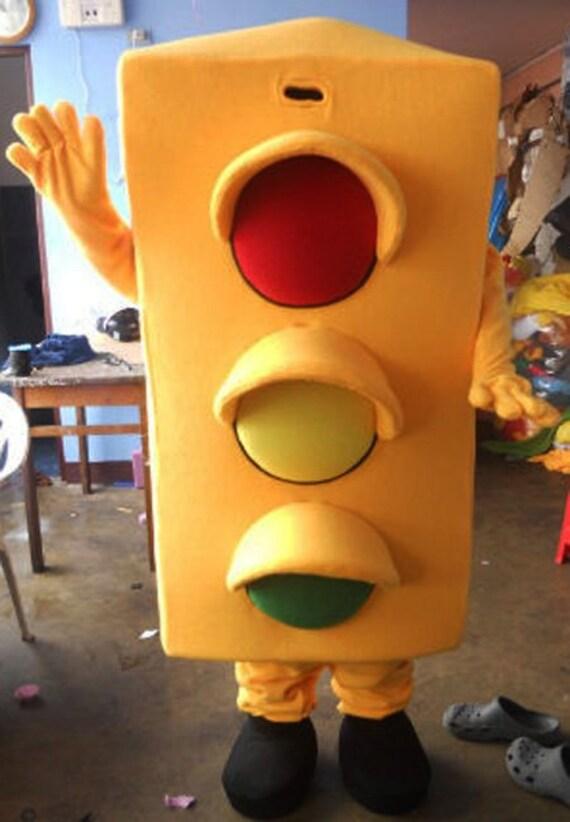 Traffic Light For Sale >> Traffic Light Mascot Costume Adult Traffic Light Costume For Sale
