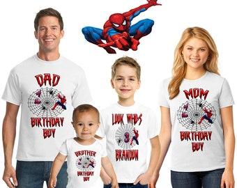 625b887e2 Spiderman inspired family birthday theme shirt,Spiderman shirt,Peter Parker  spiderman,Spiderman shirt,Spiderman party
