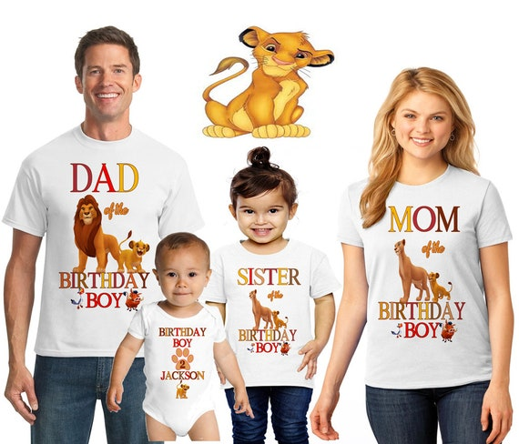 Lion King Hakuna Matata Custom Personalize Birthday Party Favor Gift T-Shirt