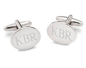 Personalized Oval Cuff links, Monogrammed Cuff Links, Engraved Personalized Cufflinks, Monogrammed Cufflinks, Engraved Cufflinks [GC1369]