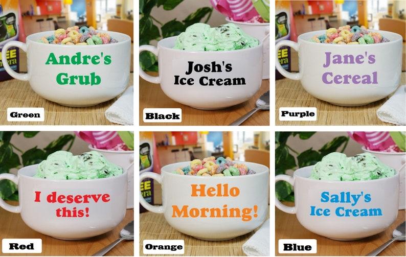 Personalized Orange Ice Cream Bowl with Name