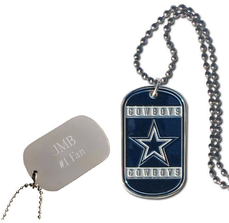 Personalized Dallas Cowboy NFL Dog Tag Custom Engraved  16012d5e6